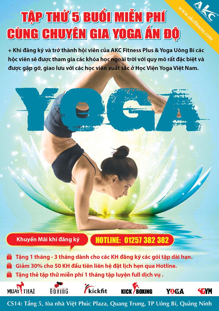 Mẫu tờ rơi tuyển sinh lớp Yoga