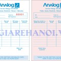 Mẫu hóa đơn Order Analog Cafe