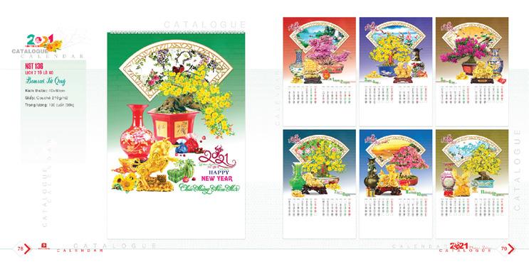 Mẫu lịch Bonsai 2021