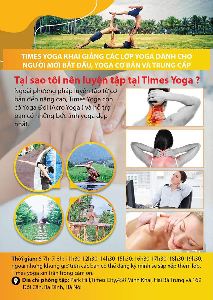 Mẫu tờ rơi yoga