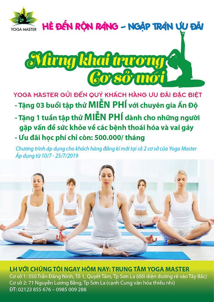 Mẫu tờ rơi khai trương lớp yoga