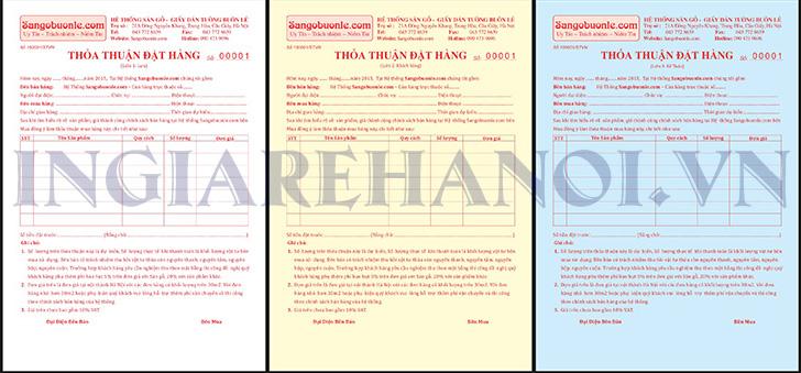 Mẫu hóa đơn thỏa thuận đặt hàng