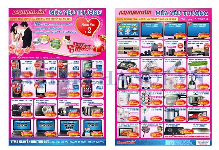 Mẫu tờ rơi siêu thị Nguyễn Kim